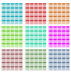 set of checkered seamless patterns vector image
