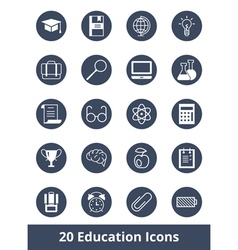 Set of web icons on education and training vector image