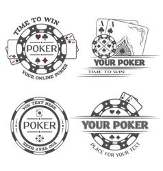 set poker emblems vector image