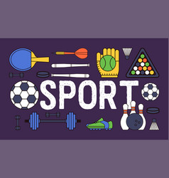 sport pattern sportive baseball basketball vector image