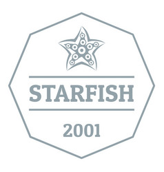starfish logo simple gray style vector image