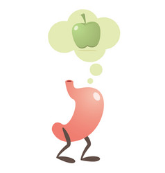 Stomach thinking fruits vector