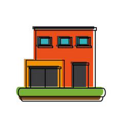 store building icon image vector image