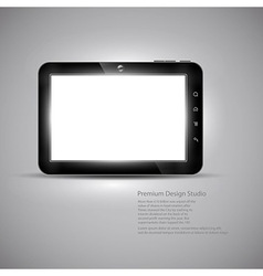 Tablet design vector image