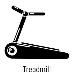 Treadmill icon simple black style vector