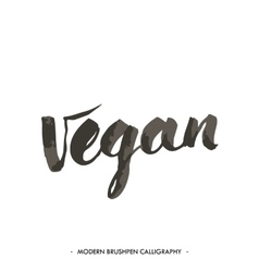 Vegan handwritten word vector image