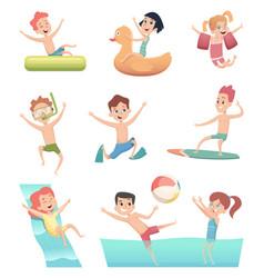 water park games fun children aqua activities vector image