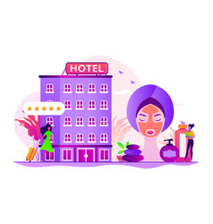 Wellness and spa hotel concept vector