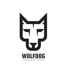 wolf or dog head - logo template concept vector image