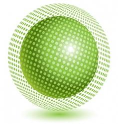 green ball vector image vector image