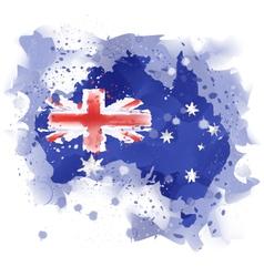 map of australia map concept Watercolor pai vector image