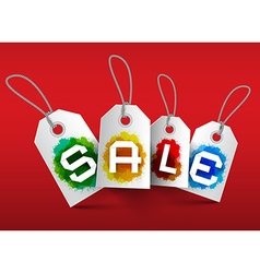 Sale Tags Business Labels with Strings and vector image vector image