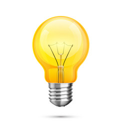 Lamp idea icon object yellow light white vector