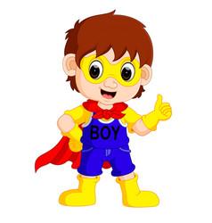 superhero boy cartoon vector image