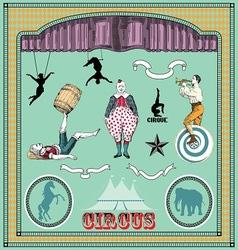 vintage circus elements vector image