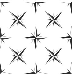 wind rose icon seamless pattern navigation design vector image
