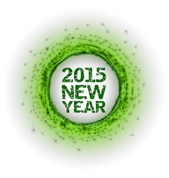 2015 fireworks green vector image vector image