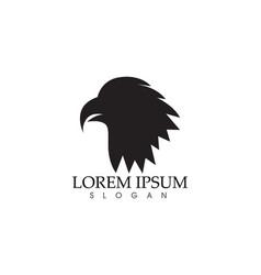 Falcon eagle bird logo template icons vector