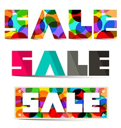Sale Colorful Titles Set vector image vector image