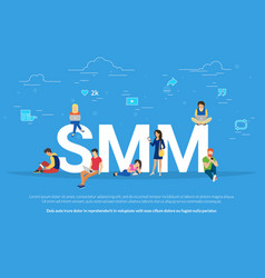 smm concept of people vector image