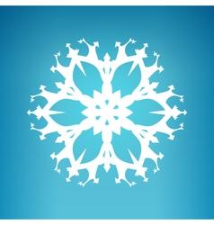 White Snowflake Merry Christmas vector image