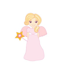beautiful fairy graphic vector image vector image
