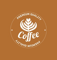 Coffee house logo concept in mono line style - vector