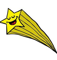 happy falling star vector image