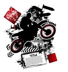 motorcycle grunge vector image