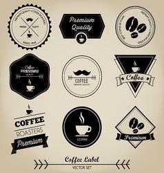 Premium Coffee Label vector image vector image