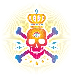 skull eye colorful vector image vector image