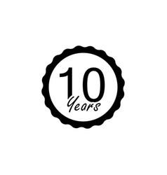 10 years anniversary sign element of anniversary vector image
