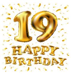 19 years anniversary happy birthday joy vector