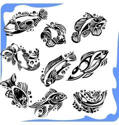 Abstract Fish - set vector image