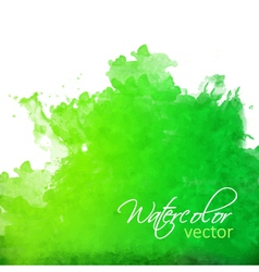 Abstract green watercolor splash vector image