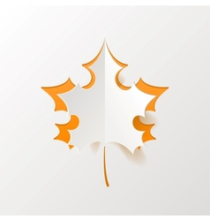 Abstract Orange Maple Leaf Isolated on White vector