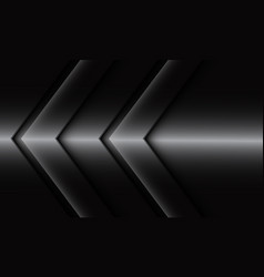 Abstract silver twin arrow direction blank space vector