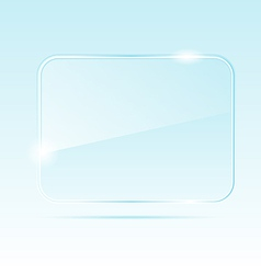 abstract transparent glass banner vector image