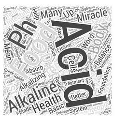Acid and alkaline foods in ph miracle diet vector