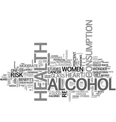 Alcohol health benefit or health risk text word vector