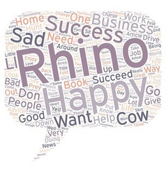 Are you a Rhino or a Cow text background wordcloud vector image