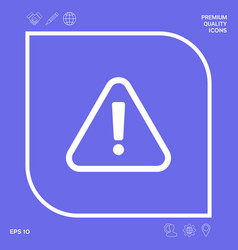 attention icon symbol graphic elements for your vector image