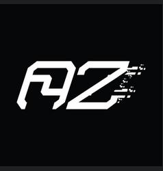 Az logo monogram abstract speed technology design vector