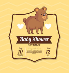 baby shower card invitation save the date with vector image