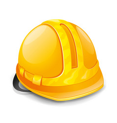 Beautiful yellow hard hat vector