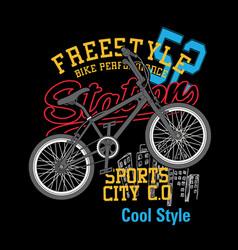 bike freestyle t shirt vector image