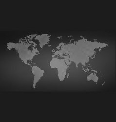black halftone dotted world map dotted map in vector image