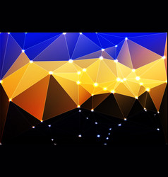 Blue yellow orange black geometric background vector