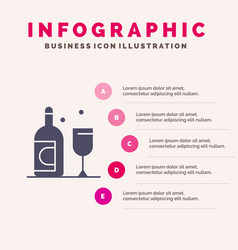 bottle glass ireland solid icon infographics 5 vector image