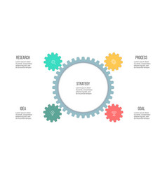 business infographics organization chart with 4 vector image
